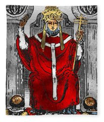Tarot Gold Edition - Major Arcana - The Hierophant Fleece Blanket