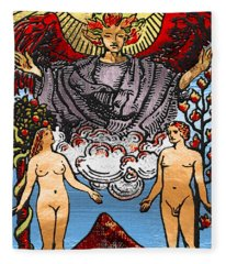 Tarot Gold Edition - Major Arcana - The Lovers Fleece Blanket
