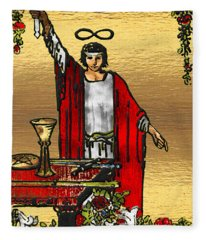 Tarot Gold Edition - Major Arcana - The Magician Fleece Blanket