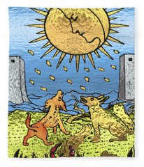 Tarot Gold Edition - Major Arcana - The Moon Fleece Blanket
