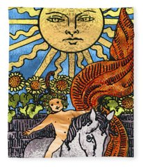 Tarot Gold Edition - Major Arcana - The Sun Fleece Blanket