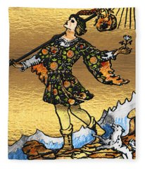 Tarot - Major Arcana - The Fool   Fleece Blanket