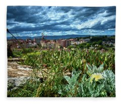 Tarragona From The Roman Wall Fleece Blanket