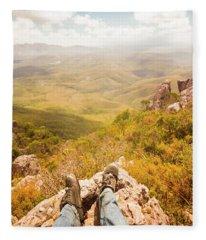 Tasmania Bushwalking Views Fleece Blanket
