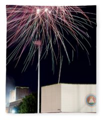 Taste Of Dallas 2015 Fireworks Fleece Blanket