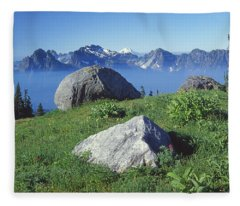 1m4862-tatoosh Range And Mt. St. Helens  Fleece Blanket