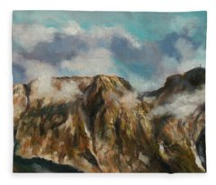 Tatry Mountains- Giewont Fleece Blanket