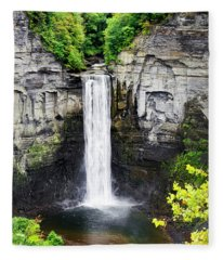 Taughannock Falls View From The Top Fleece Blanket