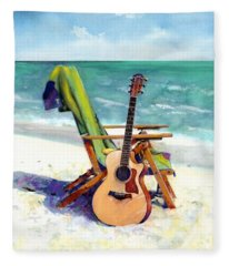 Taylor At The Beach Fleece Blanket