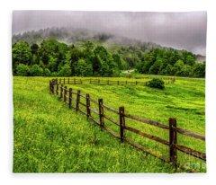 Tea Creek Meadow And Buttercups Fleece Blanket