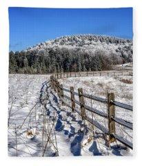 Tea Creek Meadow With Moon Fleece Blanket