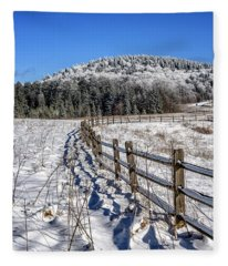 Tea Creek Meadow With Moon Fleece Blanket