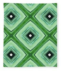 Tea Garden- Art By Linda Woods Fleece Blanket