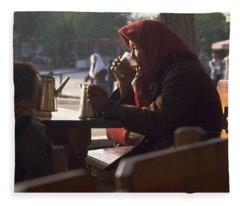 Tea In Tashkent Fleece Blanket