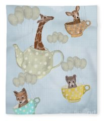 Tea Party Fleece Blanket