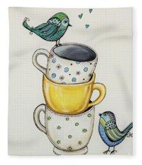 Tea Time Friends Fleece Blanket