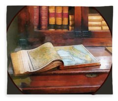 Teacher - Geography Book Fleece Blanket