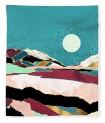 Teal Sky Fleece Blanket