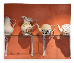 Teapots At Morning Buns Fleece Blanket