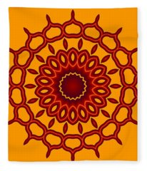 Teardrop Fractal Mandala Fleece Blanket