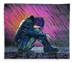 Tears In The Rain Fleece Blanket