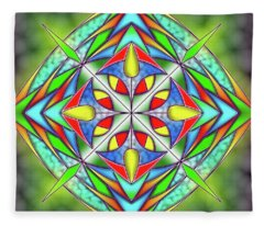 Techno Fantasy Fleece Blanket