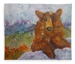 Teddy Wakes Up In The Most Desireable City In The Nation Fleece Blanket