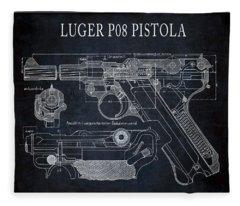 Tedesco Luger P08 Pistola Fleece Blanket