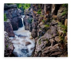 Temperance River Gorge Fleece Blanket
