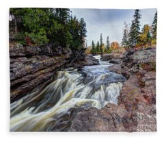 Temperance River State Park Fleece Blanket