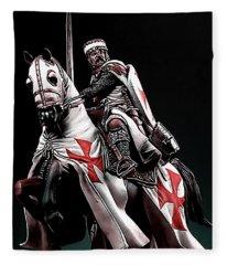 Templar Knight, Red Cross - 02 Fleece Blanket