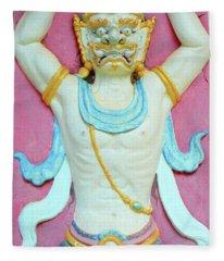 Temple Art In Thailand Fleece Blanket
