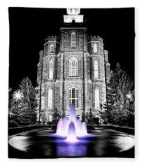 Temple Fountain  Fleece Blanket