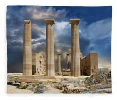 Temple Of Athena Fleece Blanket