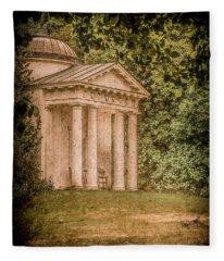 Kew Gardens, England - Temple Of Bellona Fleece Blanket