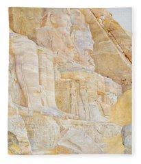Temple Of Ramses II Fleece Blanket