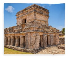Temple Of The Frescos Fleece Blanket