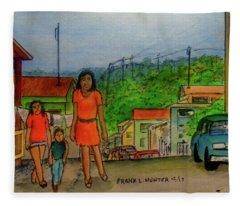 Temporarily Lost In San German Puerto Rico Fleece Blanket