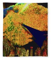 Ten Thousand Trees Sun Descending Fleece Blanket