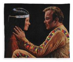 Tenderness In His Touch Fleece Blanket