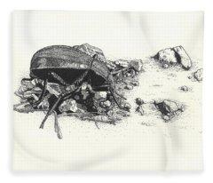 Darkling Beetle Fleece Blanket