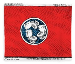 Tennessee Bathroom Flag Fleece Blanket