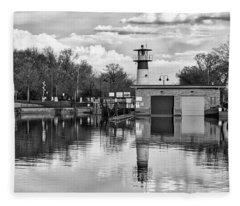 Tenney Lock 3 - Madison - Wisconsin Fleece Blanket