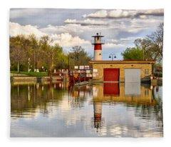 Tenney Lock - Madison - Wisconsin Fleece Blanket