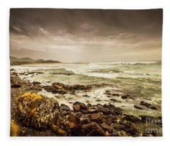 Tense Seas Fleece Blanket