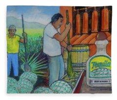 Tequila Farm To Bar Fleece Blanket
