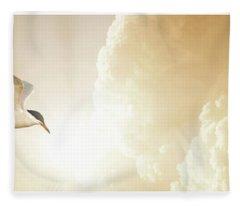 Tern In Flight, Spiritual Light Of Dusk Fleece Blanket