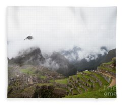 Terraces And Ruins Fleece Blanket