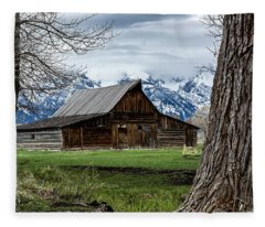 Teton Barn #1 Fleece Blanket
