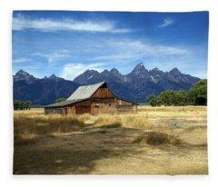 Teton Barn 3 Fleece Blanket